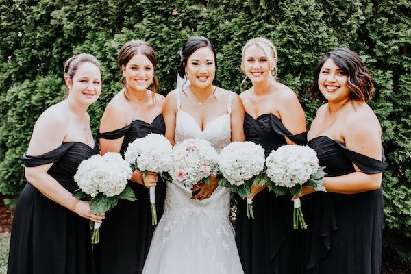 Black bridesmaid dresses