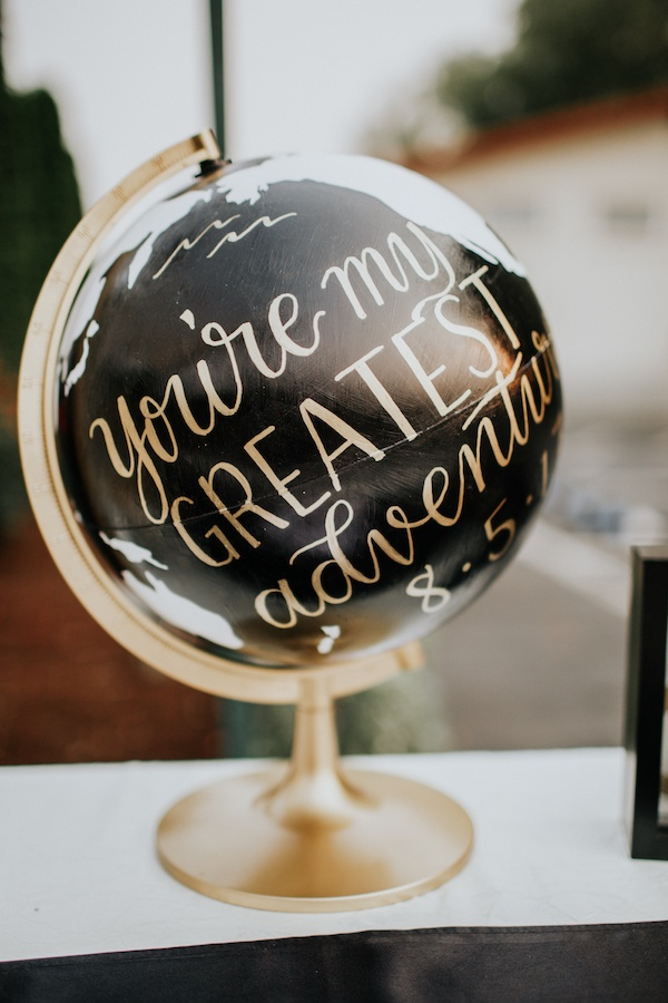 Calligraphy globe