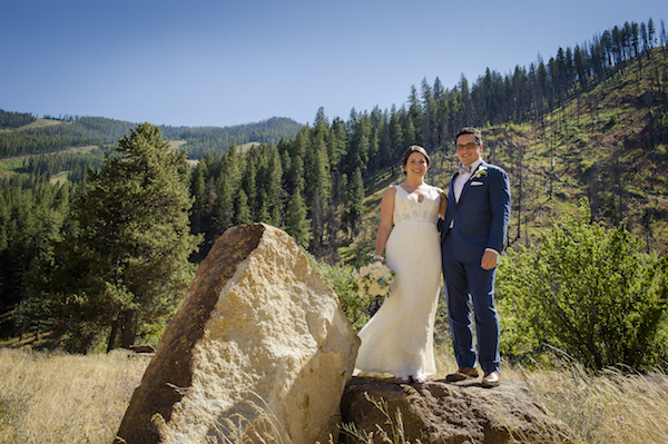 Sun Valley's Gorgeous, Sweeping Landscapes Provided a Beautiful Background to Marry Against