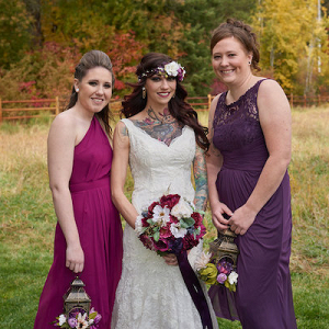 Jewel tone bridal party