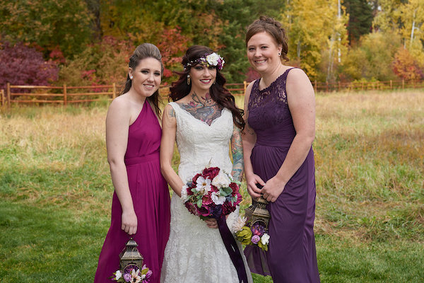 Jewel tone bridal party