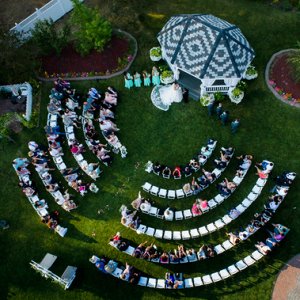 We Love This Ceremony Seating Set Up!