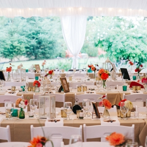 The Colorful Vintage Decor Gave the Wedding A Whimsical, Fun Feel
