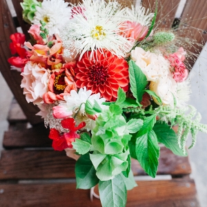 The Bride's Gorgeous Bouquet Matched The Farm Landscape Perfectly