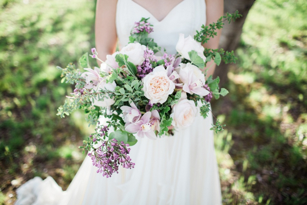 Blush and purple bouquet