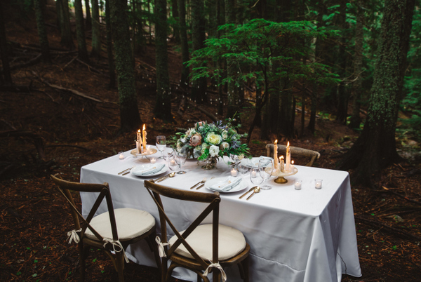 Mother Nature Meets Glam in the Woods