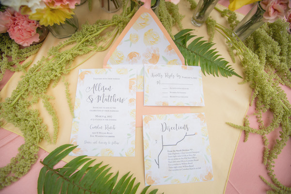 This Pastel Invitation Suite Has Us Dreaming of Spring!