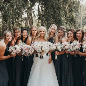 Teal bridesmaids