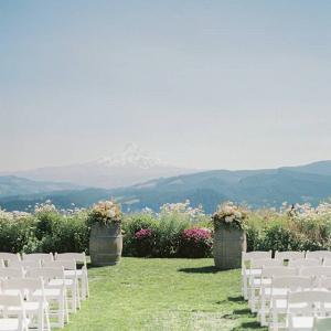 Mountainside wedding ceremony