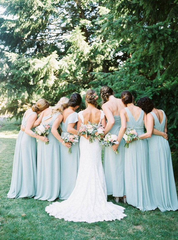 Mint blue bridesmaid dresses