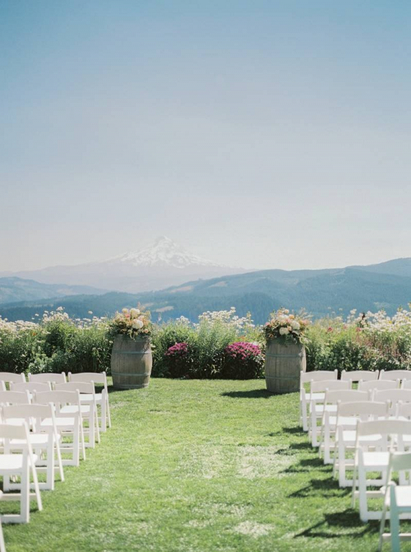 Mountainside wedding ceremony