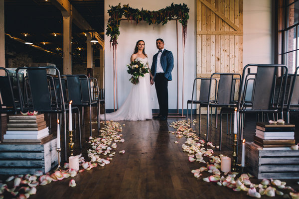 This Industrial Styled Wedding is So Intimate and Romantic!