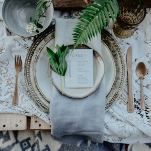 Vintage organic place setting