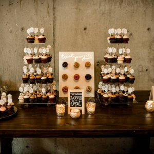Doughnut and cupcake display