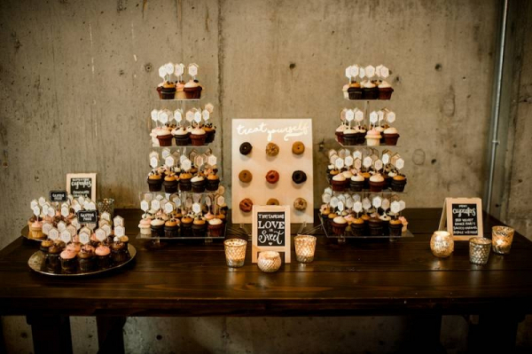Doughnut and cupcake display