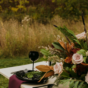 Organic fall wedding table
