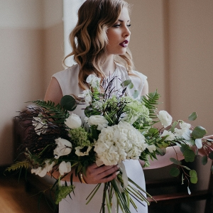 This Bride's Simple Ensemble Packs a Punch