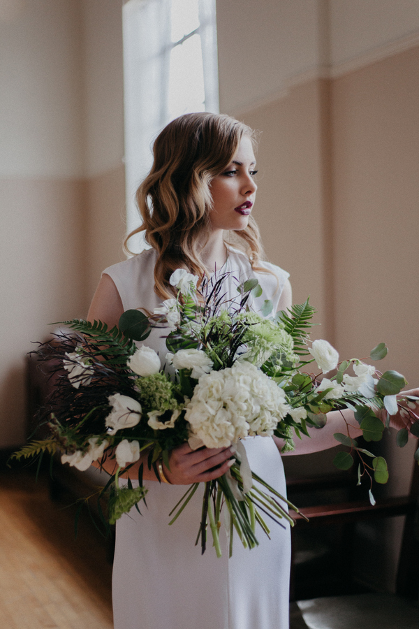 This Bride's Simple Ensemble Packs a Punch