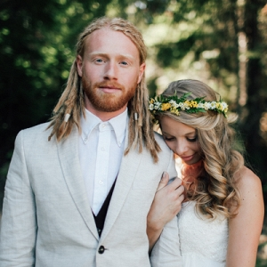 This Beautiful Couple Planning a Backyard, Woodland Wedding