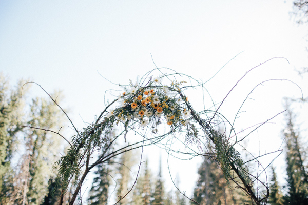 The Sunflower Arch Framed the Ceremony Space