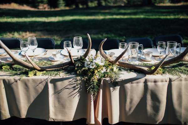 Incorporating Antlers Into the Decor Was the Perfect Nod to the Forest Setting