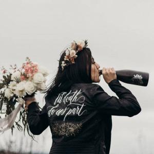 Bridal leather jacket