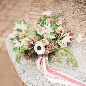 Blush and mauve bridal bouquet
