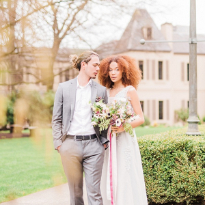 Romantic chateau wedding inspiration