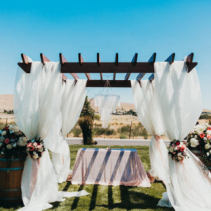 This Arbor Provides the Perfect Dramatic Backdrop for A Ceremony