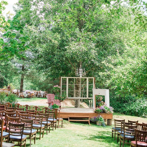 We Love the Mismatched, Vintage Style of this Ceremony!