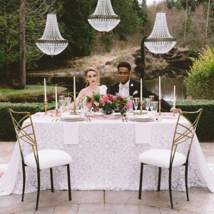 Vintage glam wedding reception