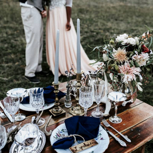 Rustic styled wedding table