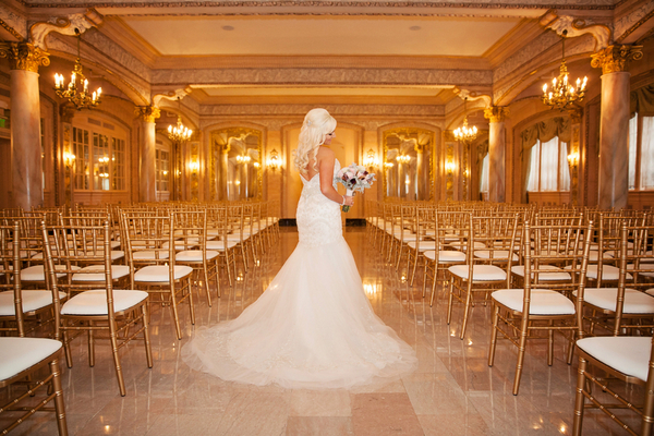 This Bride's Glam Style Paired Perfectly with the Super Glam Hotel Ballroom