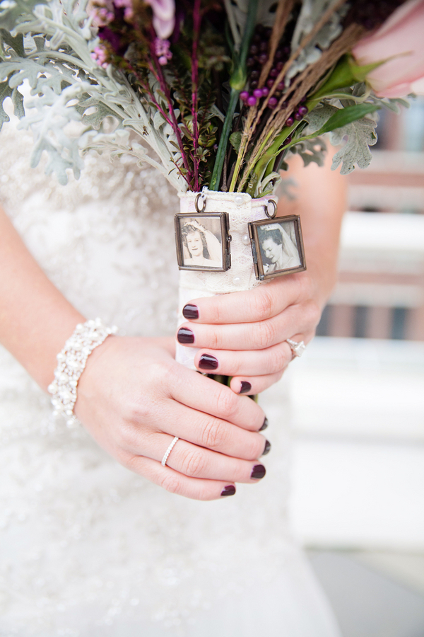 A Sentimental Reminder on the Bride's Bouquet was a Sweet Token