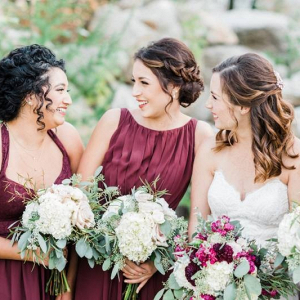 Merlot red bridesmaid dresses