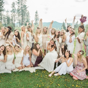 This Gorgeous Mismatched Group Showered the Bride-To-Be with Love