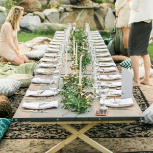 A Floor Seated Dinner Was Comfortably Cozy at This Bridal Shower