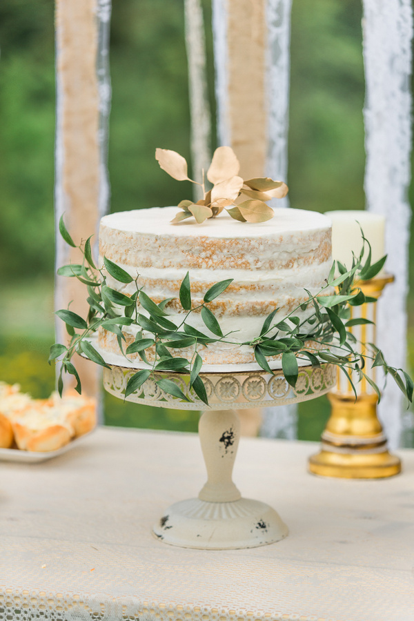The Simple, Chic, Naked Cake is a Gorgeous Accent at a Bridal Shower