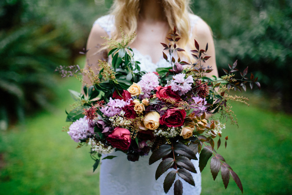 This Wild Bouquet Was the Perfect Forest Accent
