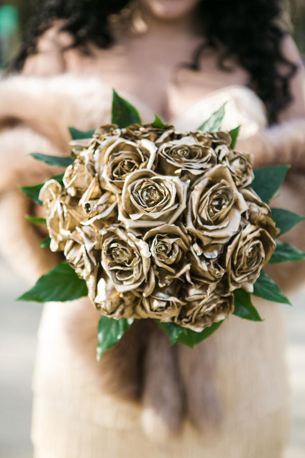 Gold Rose Bouquet