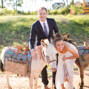 Texas Ranch Wedding with Donkeys