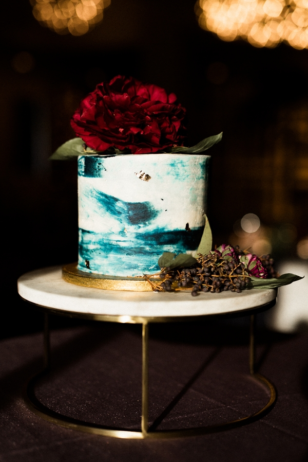 Aquamarine Marbled Cake
