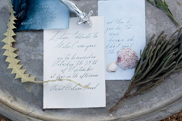 Watercolor Calligraphy Stationery Suite