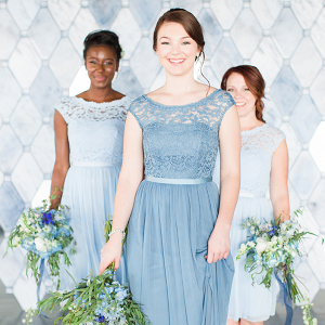 Blue Lace Bridesmaid Dresses