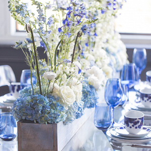 Monochromatic Blue Tablescape