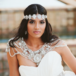 Bride with Crystal Accessories