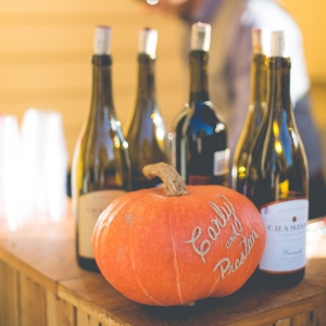 Personalized pumpkin wedding decor