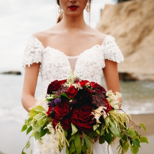 Spanish inspired bridal portraits at the beach in Oregon