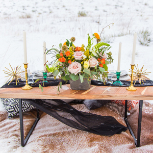 Boho Tablescape in the Snow