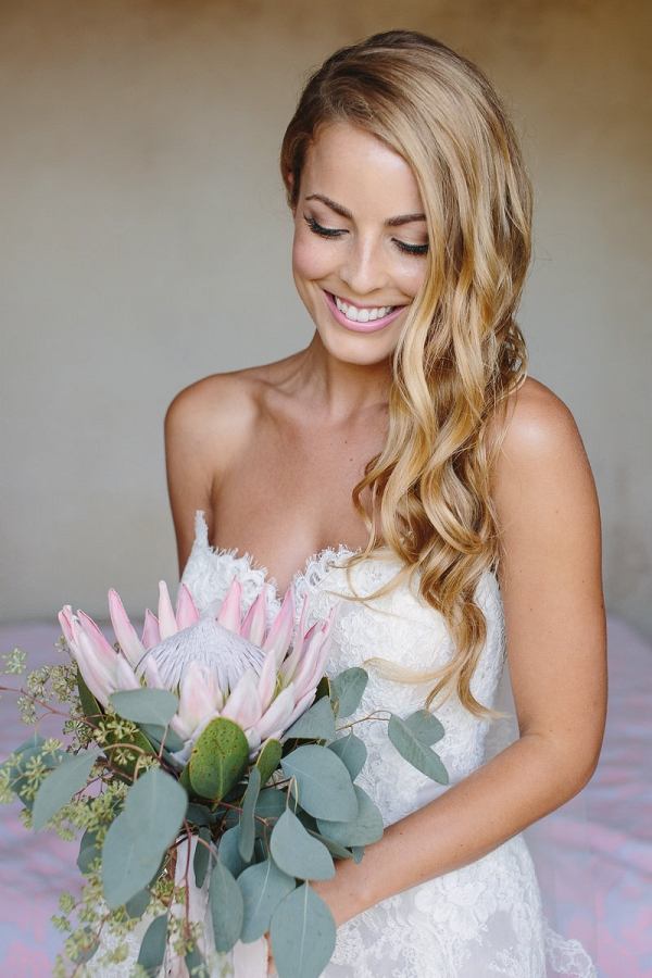 Bride With Protea Bouquet